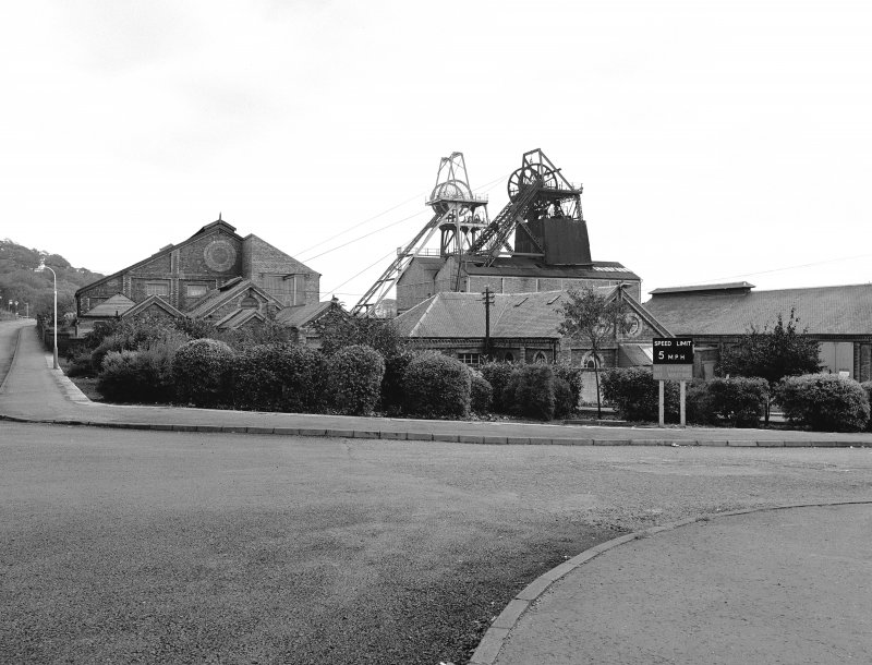 High Valleyfield, Colliery View of pitheads and processing buildings, from SE