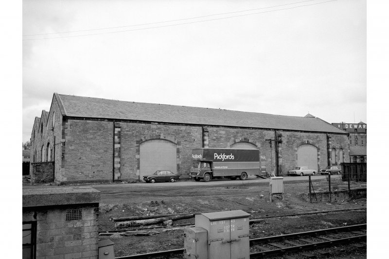 Perth, Leonard Street, General Station View from ESE showing goods shed