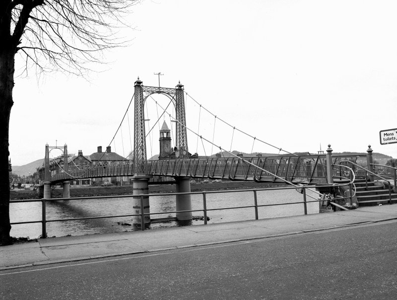 Inverness, Church Lane, Suspension Bridge View from ENE showing SE front