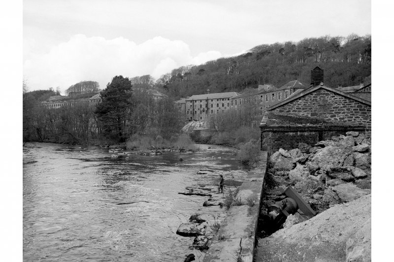 New Lanark, The Institute and The School General view from S