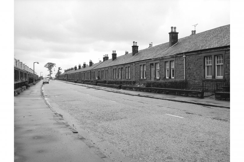 Castlecary, Allandale Cottages General view looking E showing cottages on S side