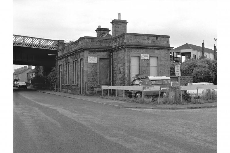 Dalmeny Station View from WNW showing NNE front and WNW front of Forth Bridge Railway Company Offices