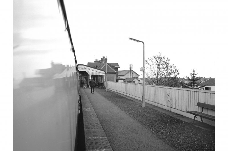 Stonehaven Station View of down-platform from train