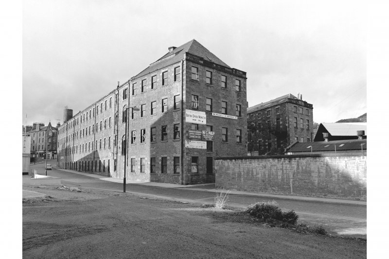 Dundee, Logie Works View of Pole Park Road frontage and E Gables, from SE