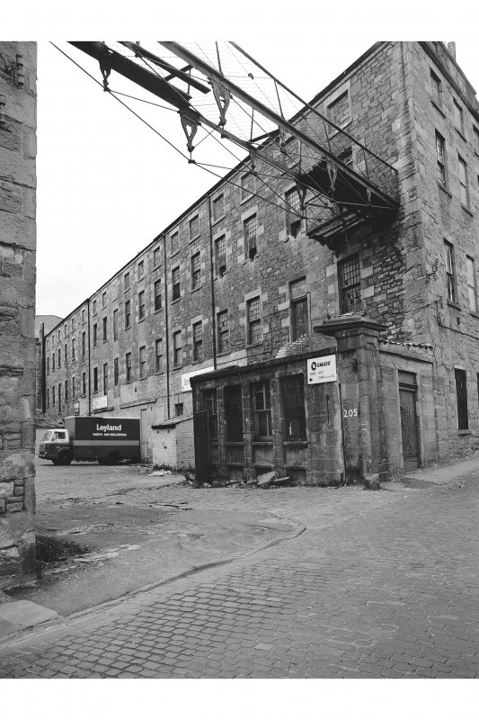 Dundee, Logie Works View of N range of courtyard, from SW