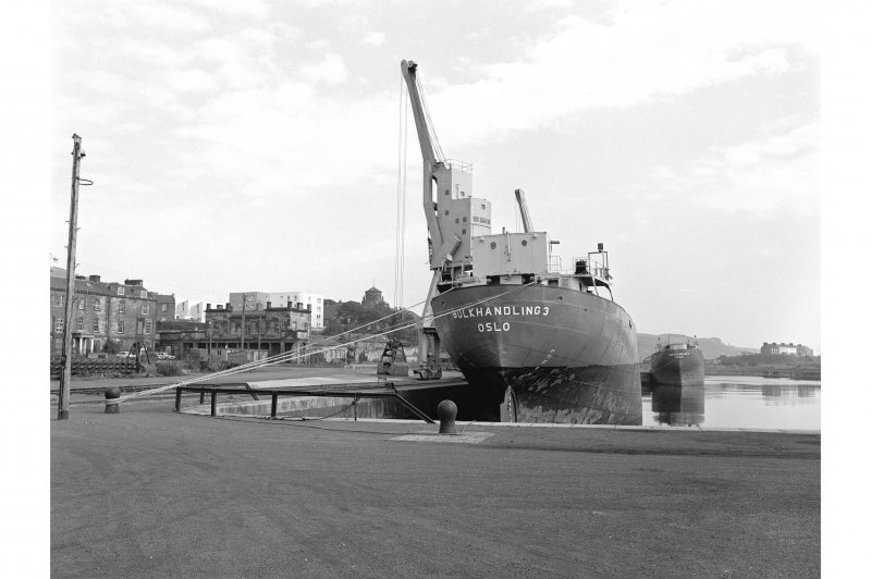 Burntisland Harbour View from SW showing 'Bulkhandling 3 Oslo' in dock