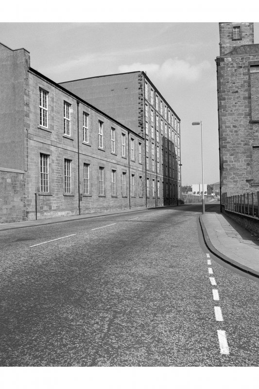 Kirkcaldy, Nairn's Linoleum Works View of NE blocks on Nairn Street, from SW