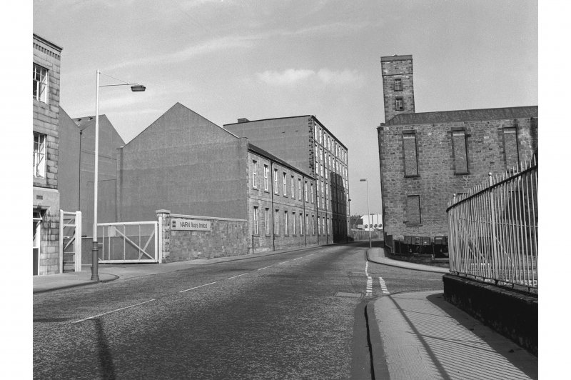 Kirkcaldy, Nairn's Linoleum Works View from SW end of Nairn Street