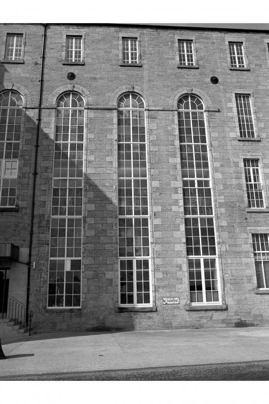 Kirkcaldy, Nairn's Linoleum Works Detail of Nairn Street frontage (SW block of S factory) from E