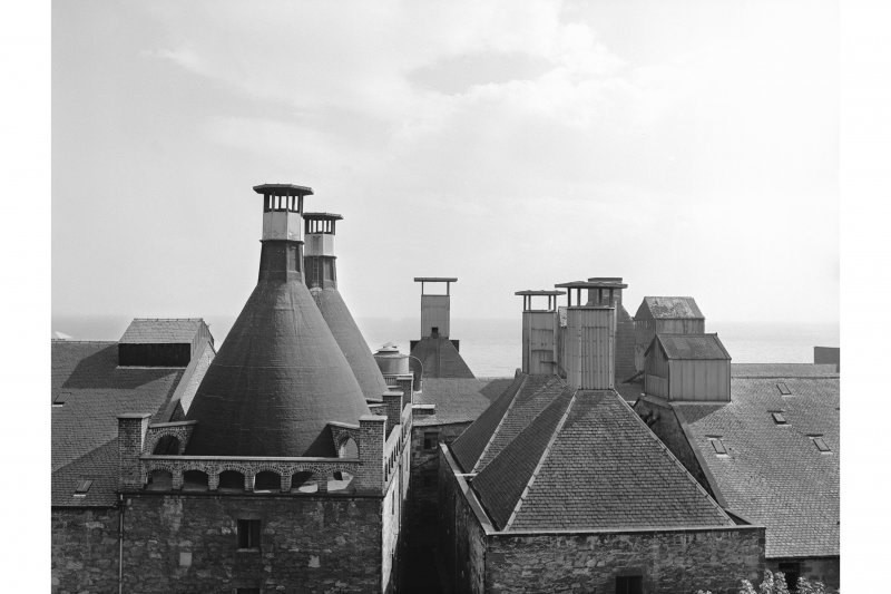 Kirkcaldy, Ravenscraig Maltings View of kiln vents from W