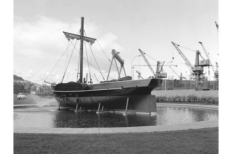 Port Glasgow, P. S. 'Comet' View of stern and port side, from SE