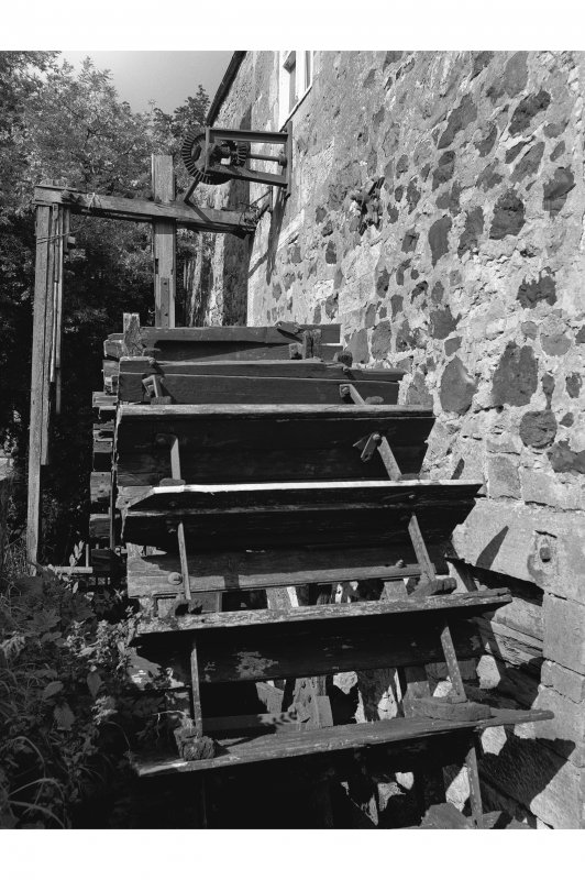 Dalgarven Mill Detail of wheel and drive mechanism, from S