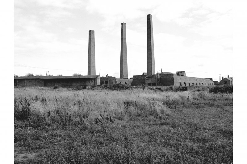 Irvine, Montgomeryfield Brickworks General view of kilns and chimneys