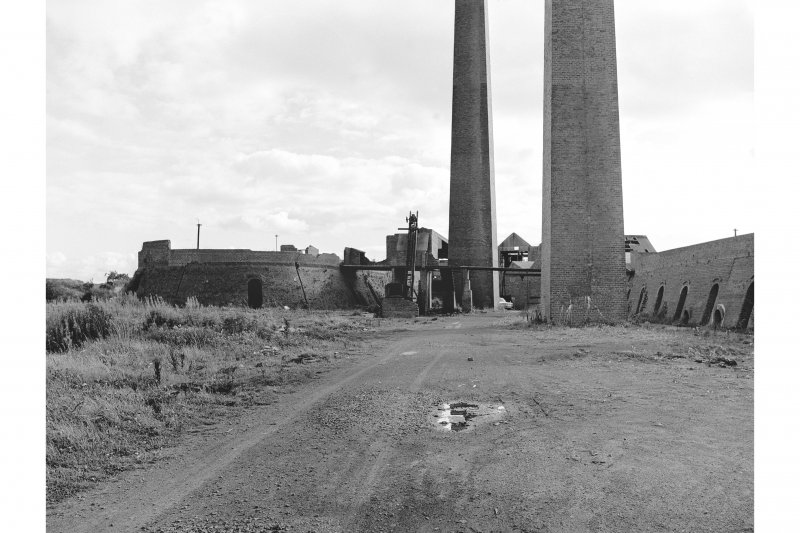 Irvine, Montgomeryfield Brickworks View of chimneys and kilns