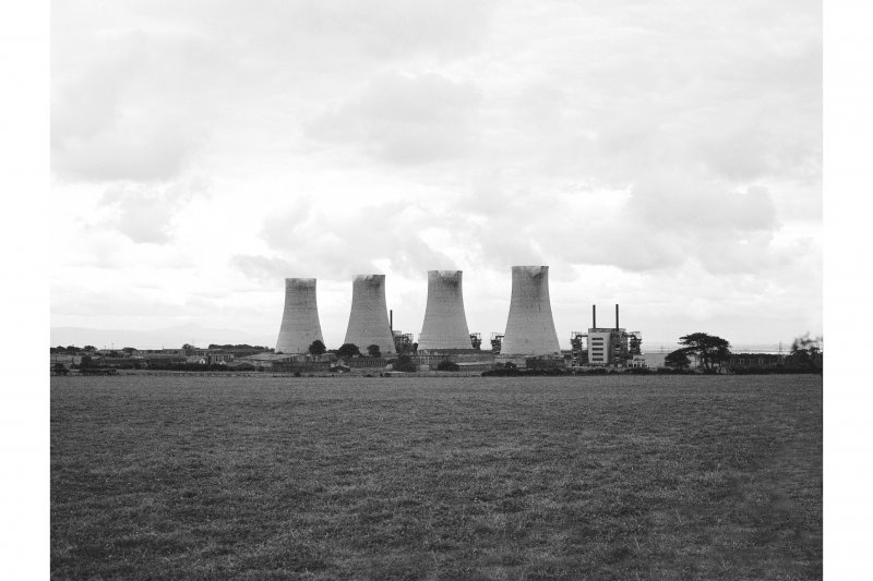 Chapelcross, Nuclear Power Station View from E, cooling towers in foreground