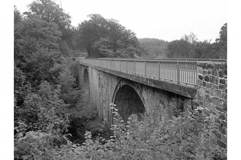 Gilnockie Bridge View of downstream face, from E