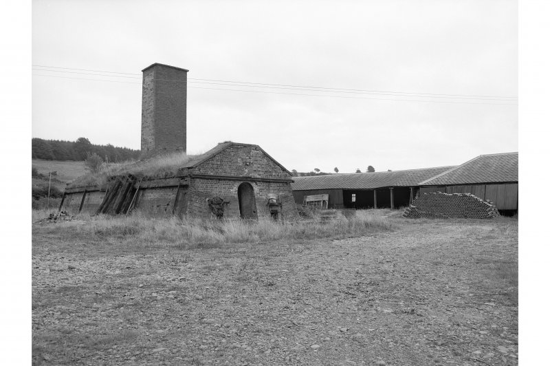 Tarrasfoot Tileworks View of kiln and drying sheds, from WNW