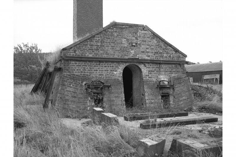 Tarrasfoot Tileworks View of kiln front, from W