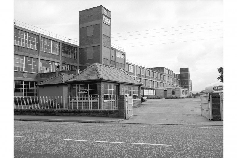 Dumfries, Edinburgh Road, Car Factory View of entrance and SE side of factory, from S.