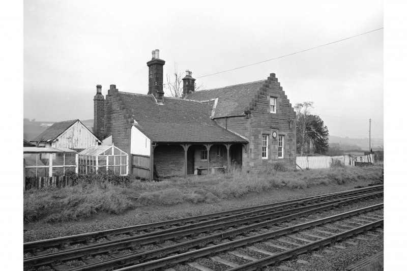 Forteviot Station View from SW showing WSW front and SSE front