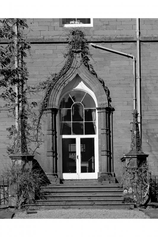 View of entrance doorway on South West facade.