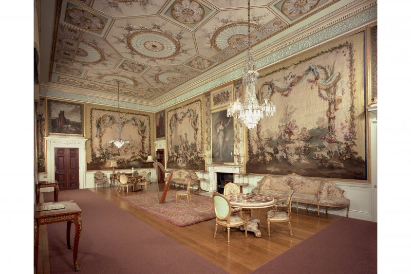 Interior. View of Tapestry Drawing Room from North.
