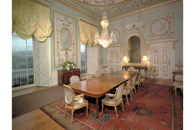 Interior. View of Dining Room from West corner.