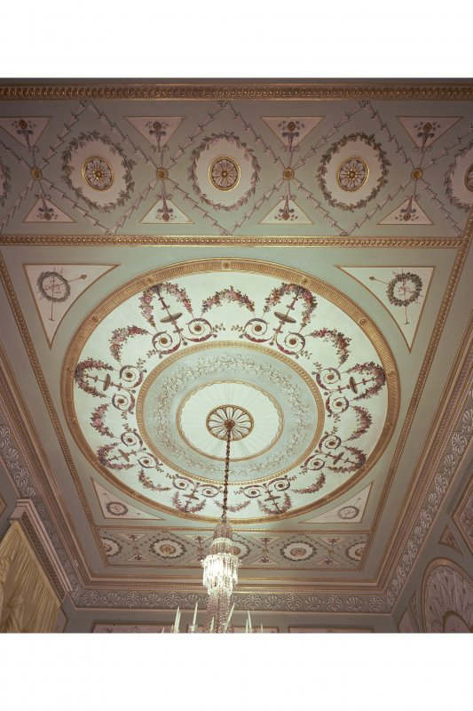 Interior. View of ceiling in Dining Room.