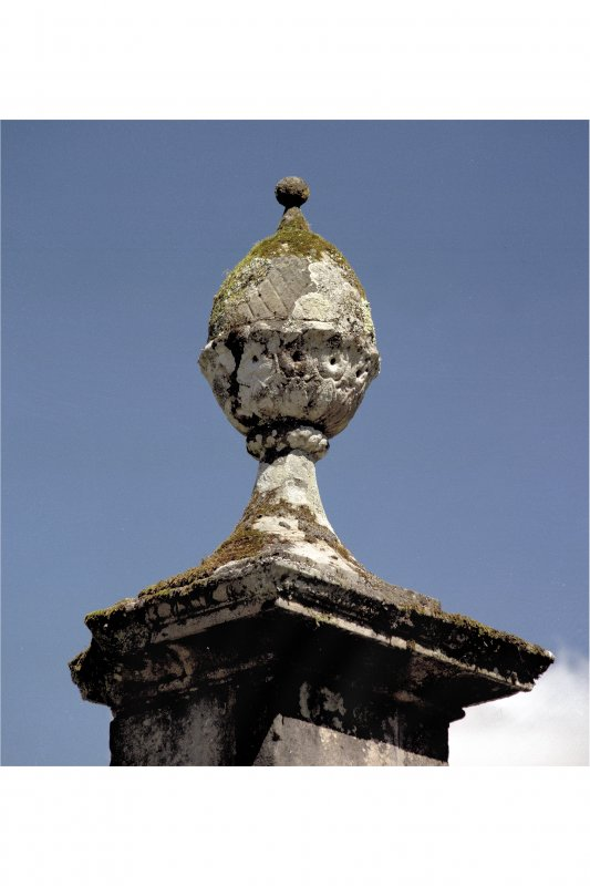 Inveraray Castle, Gate Piers View of urn on top of gate pier