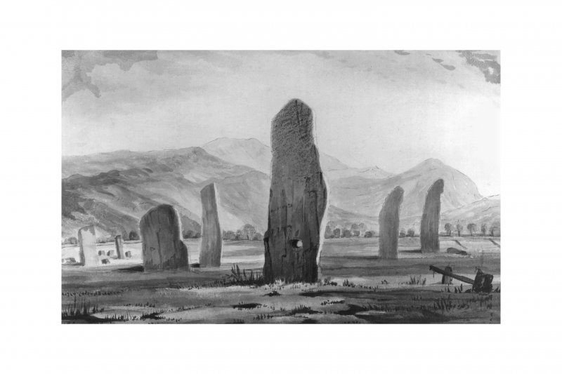 Standing stones and cairn(kerb) C.Maclagan Filed SAS 467