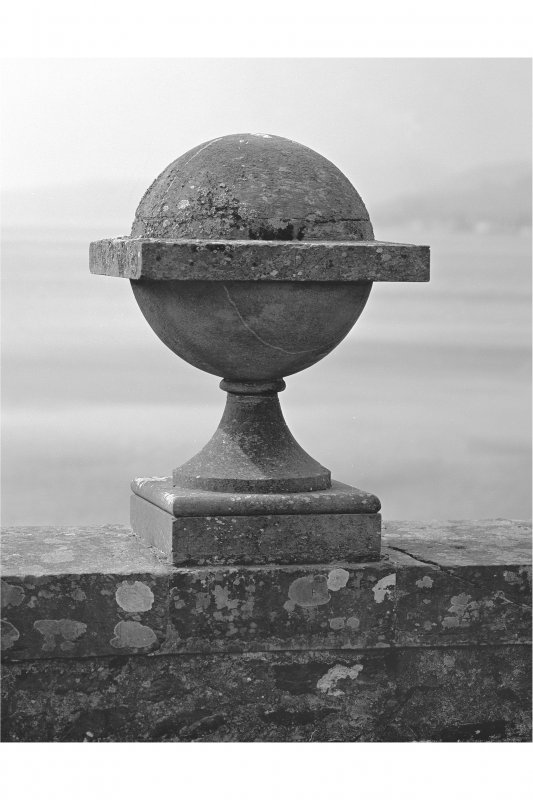 Inveraray Castle Estate, Garron Bridge View of detail of ball and finial on Garron Bridge