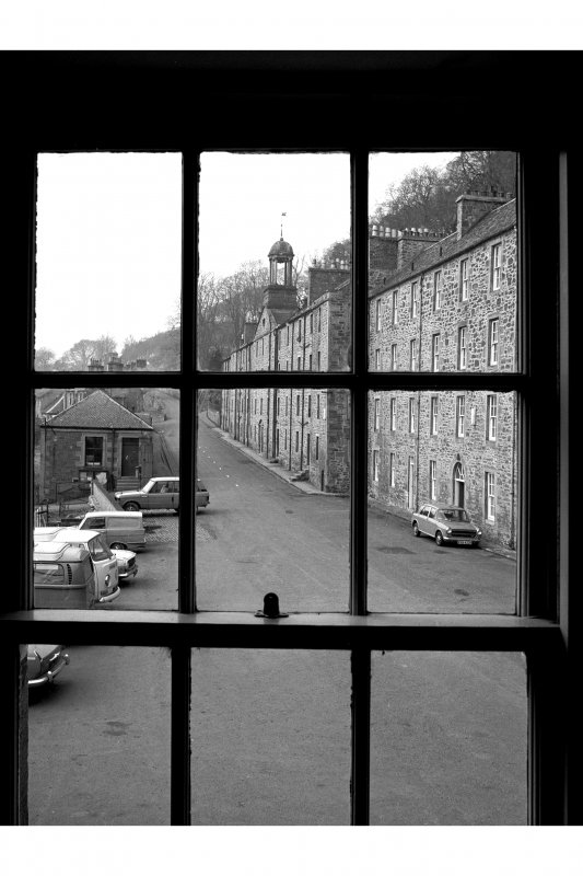 New Lanark, New Buildings View from window of counting house, from SE
