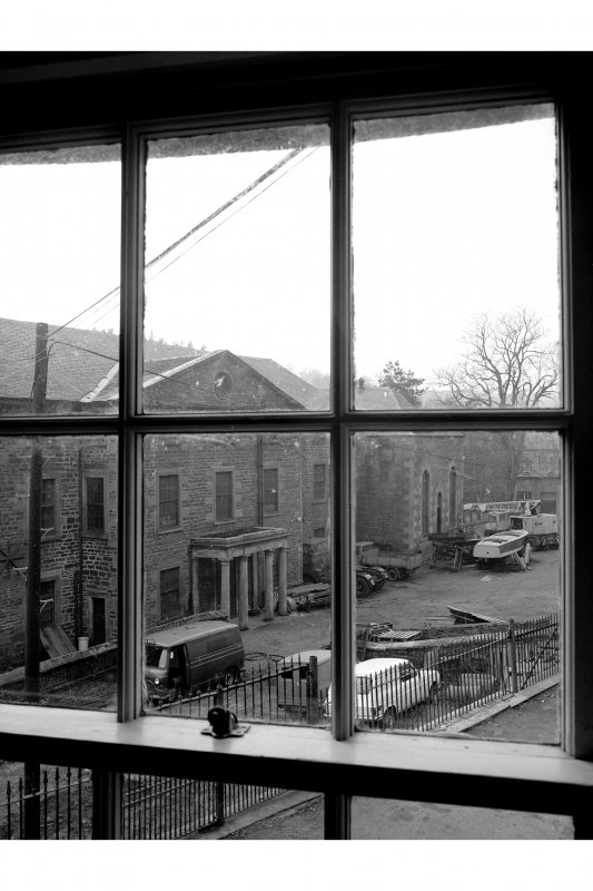 New Lanark, Instituition for thr Formation of Moral Character View from window of Counting House, from SE