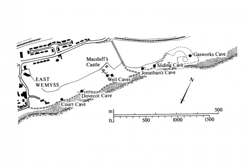 Location map of caves