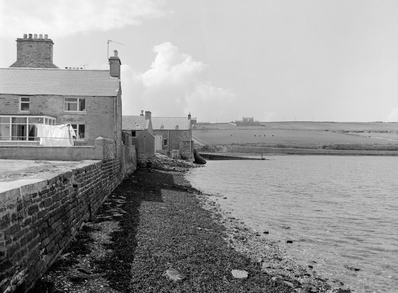 St Margaret's Hope, Front Road, Leirvoe View from ESE showing ESE front of Leirvoe and ESE front of jetty