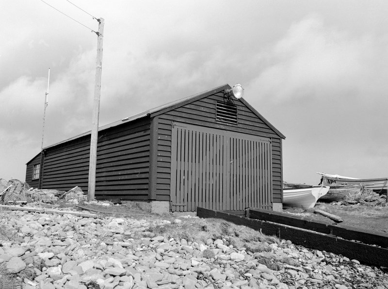 Burnwick, Lifeboat Station View from SW showing WNW front and SSW front of lifeboat shed