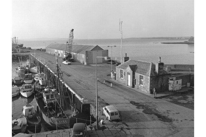 Kirkwall Harbour View from SSW showing WSW front of S half of pier and WSW front and SSE front of harbour master's office