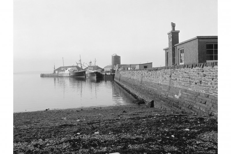 Kirkwall Harbour View from SSW showing WNW front of West Pier
