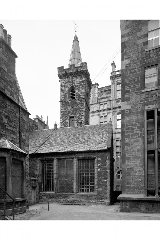 View from South South West from courtyard to rear showing tower.
