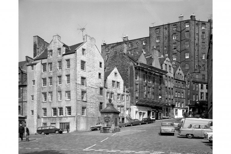 General view of West Bow, west side and junction with Grassmarket.