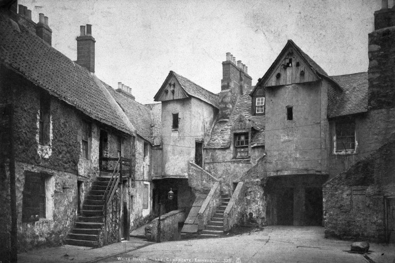 View of White Horse Close from North, insc; 'White Horse Close, Canongate, Edinburgh  325 ...'