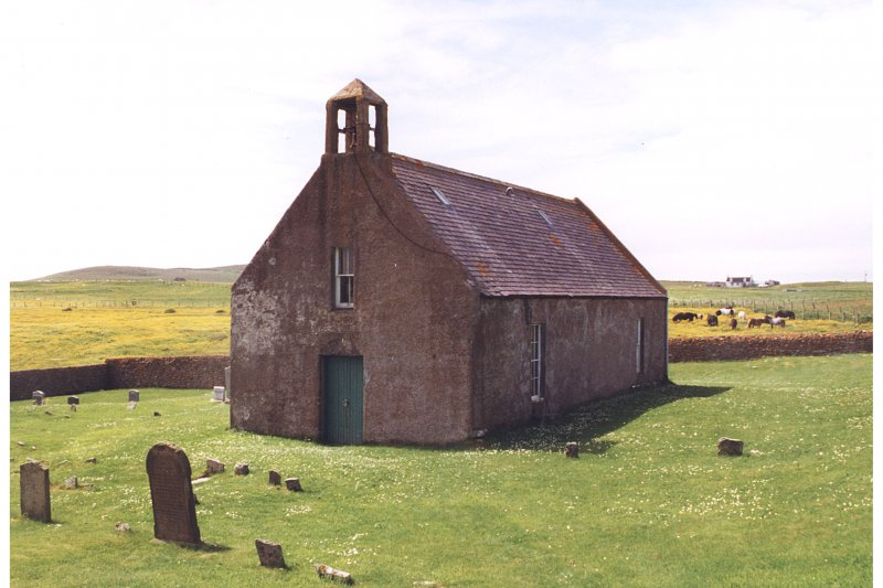 Papa Stour, Shetland, church. Scanned image only.