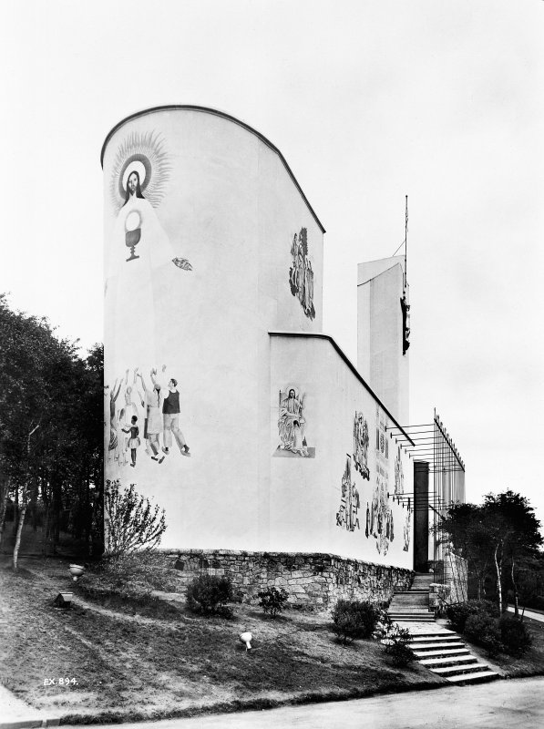 Empire Exhibition, 1938 Modern copy of press photograph showing Roman Catholic pavilion