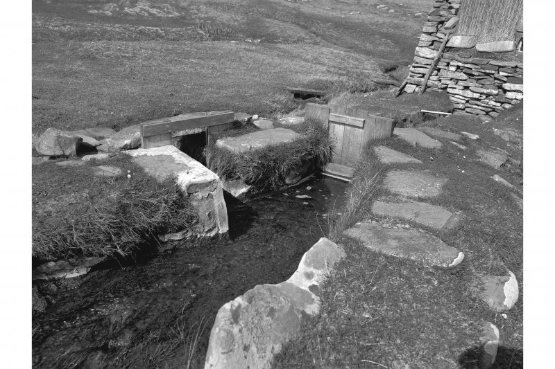 Southvoe, Horizontal Mill View of lade and sluice