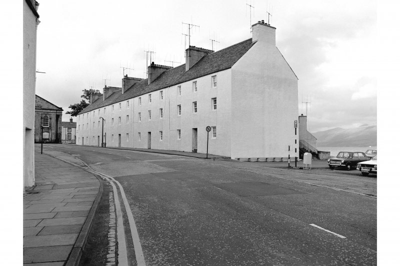 Inveraray, Main Street South, Relief Land View of frontage from SW