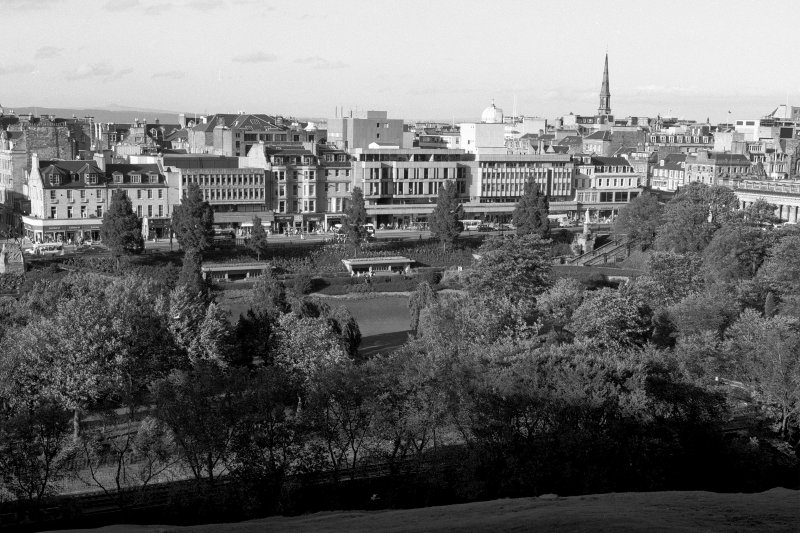 General view of West Princes Street Gardens from the south, also showing part of Princes Street
