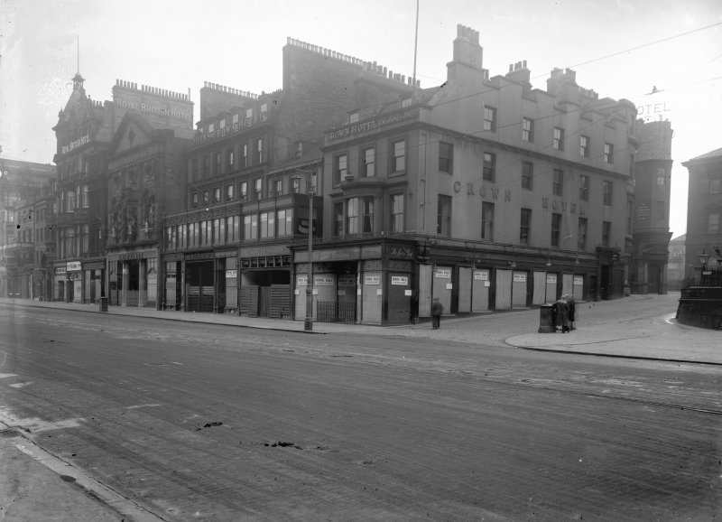 View of 10 - 20 Princes Street from south east showing the Crown Hotel before demolition.