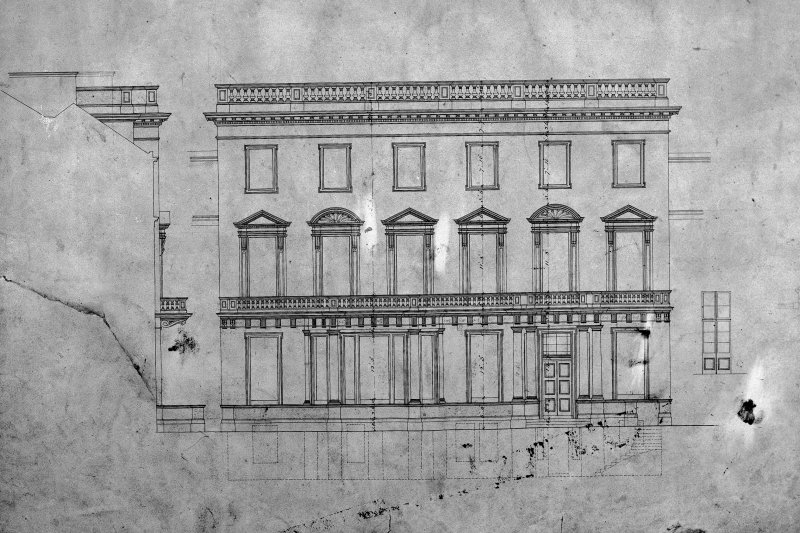 Photographic copy of elevation from Princes Street.