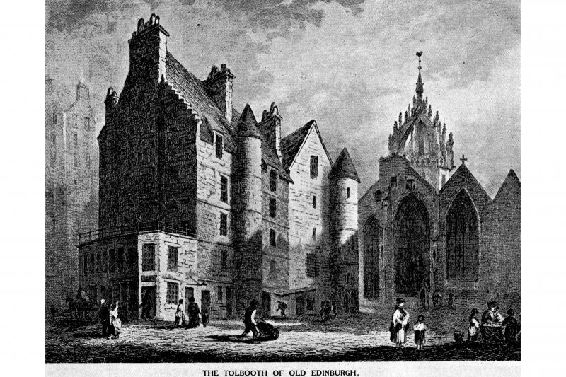 "General view-taken from ""Memorials of Edinburgh"" by Daniel Wilson (opposite p.72)"