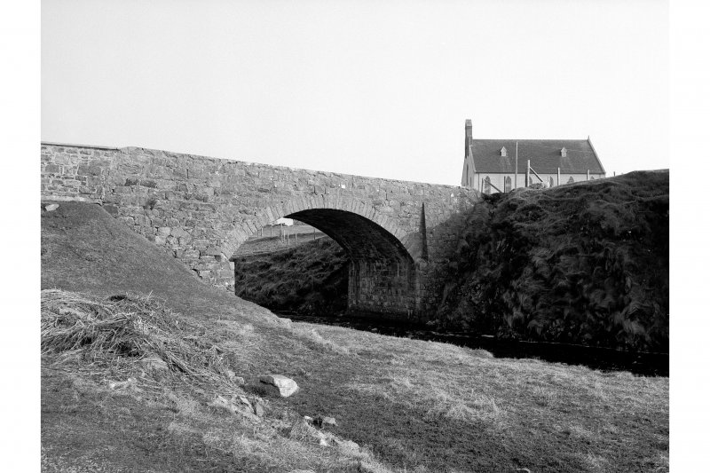 Carloway Bridge View of downstream face, from N